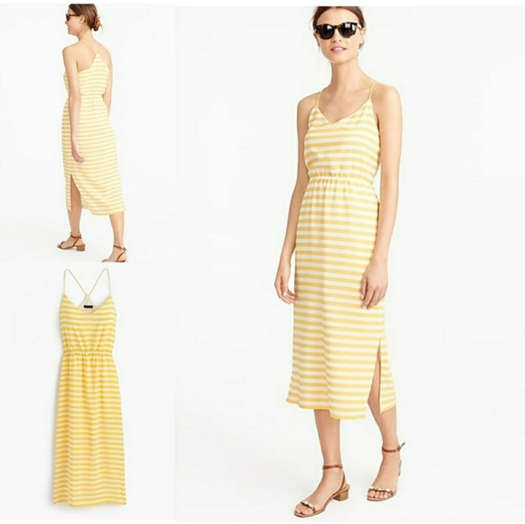 fd0a0981108d J. Crew Dresses | J Crew Carrie Dress In Yellowwhite Stripe | Poshmark